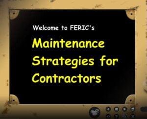 Maintenance strategies for contractors