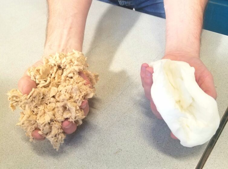 Unbleached pulp versus bleached pulp-ft